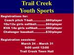 trail creek youth sports