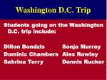 washington d c trip