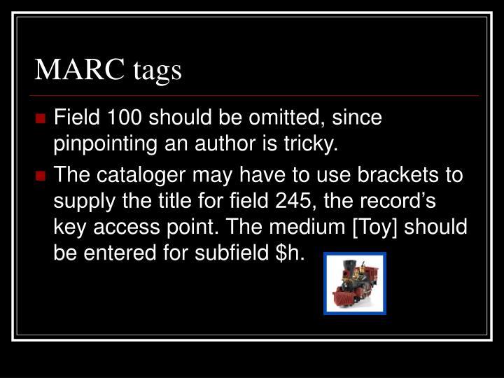 MARC tags