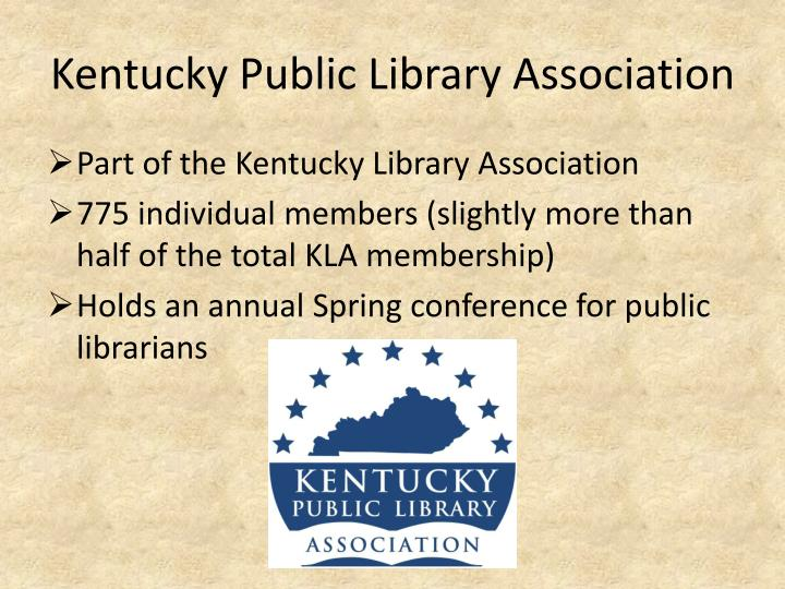Kentucky public library association