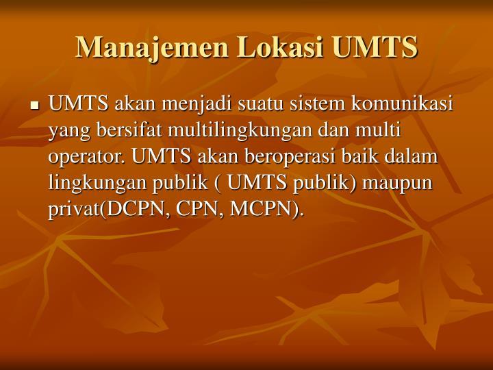 Manajemen Lokasi UMTS