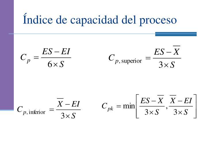 Índice de capacidad del proceso