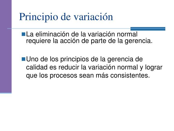 Principio de variación