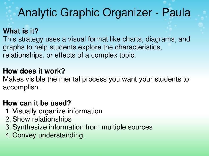 Analytic Graphic Organizer - Paula