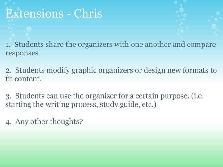 Extensions - Chris