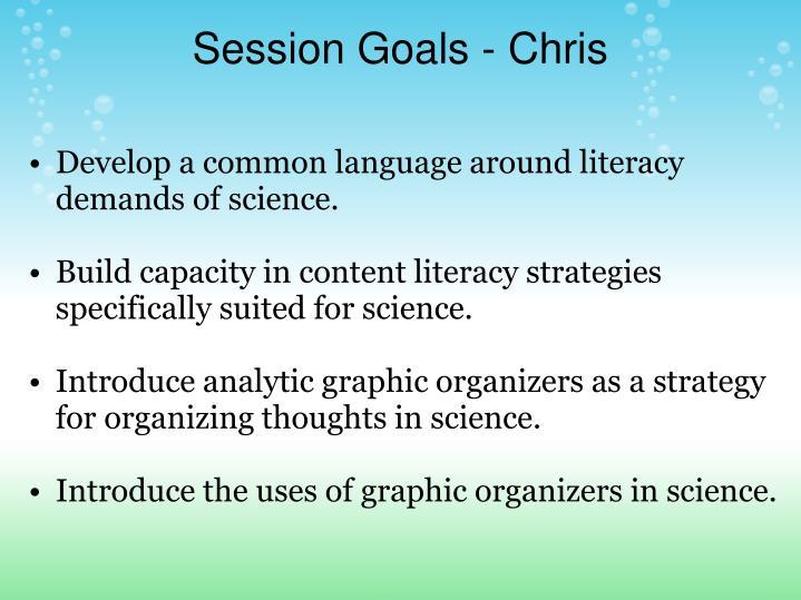 Session Goals - Chris