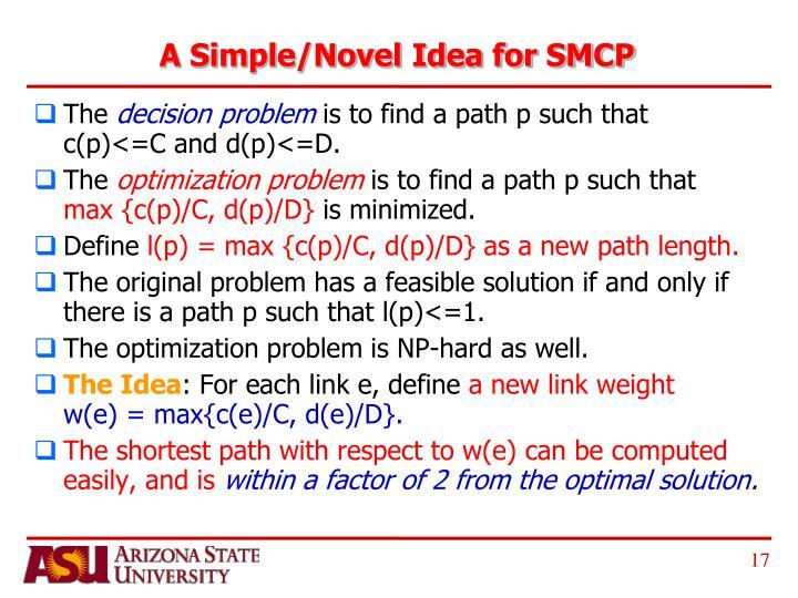 A Simple/Novel Idea for SMCP