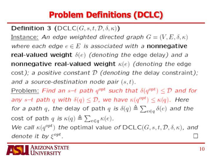 Problem Definitions (DCLC)