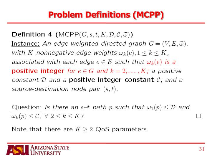 Problem Definitions (MCPP)