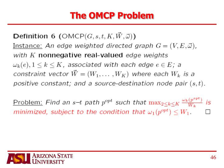 The OMCP Problem