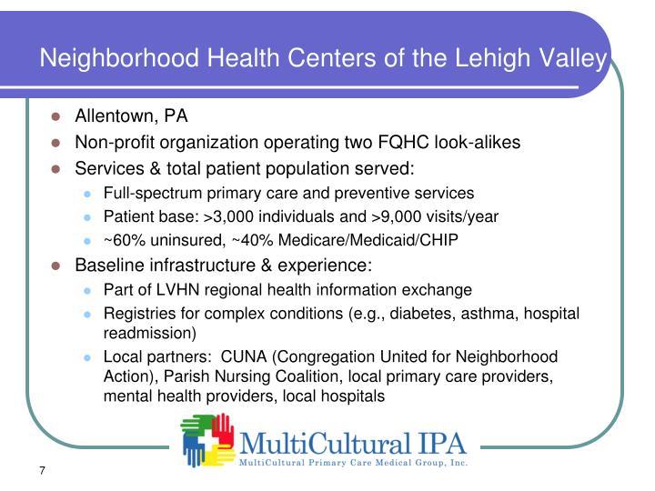 Neighborhood Health Centers of the Lehigh Valley