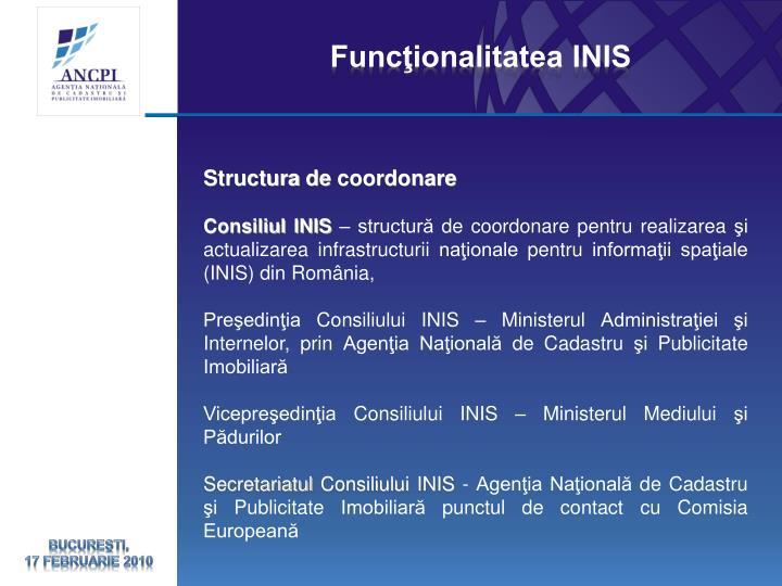 Funcţionalitatea INIS