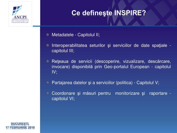 Ce defineşte INSPIRE