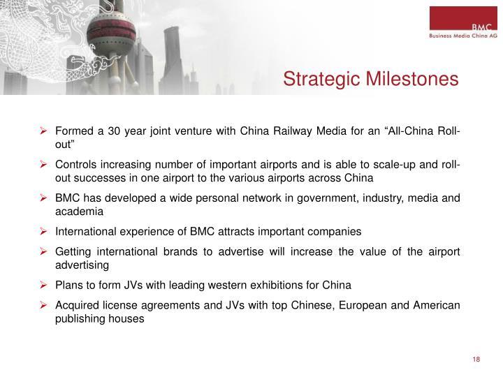 Strategic Milestones