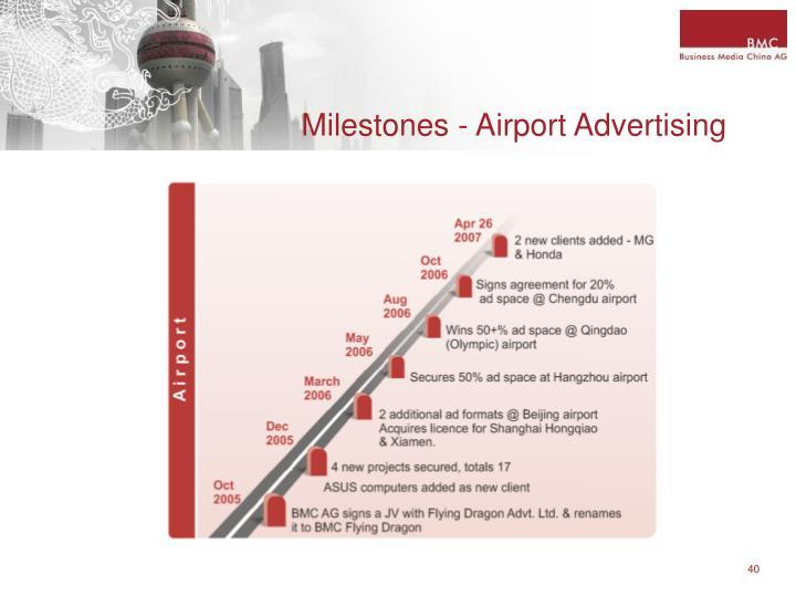 Milestones - Airport Advertising
