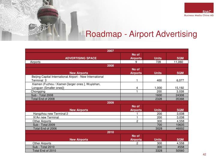 Roadmap - Airport Advertising
