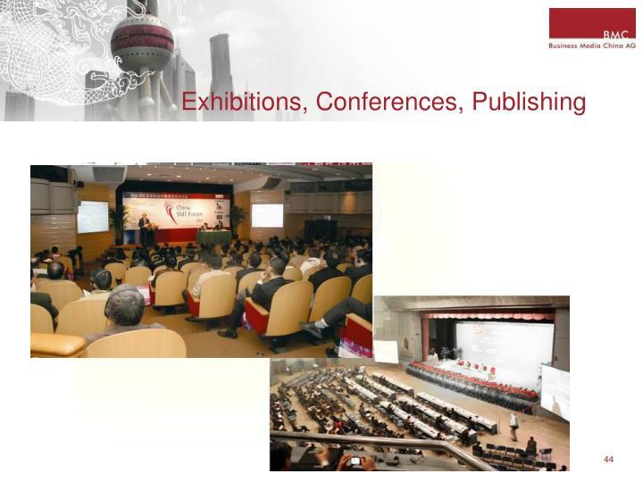 Exhibitions, Conferences, Publishing