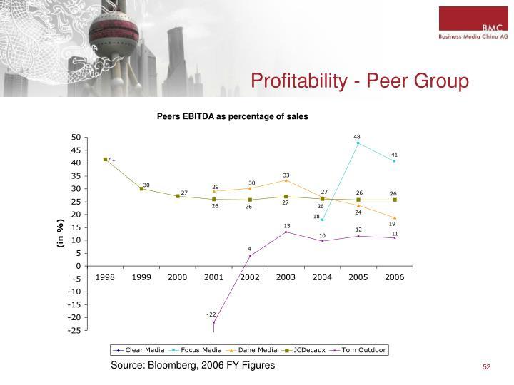 Profitability - Peer Group
