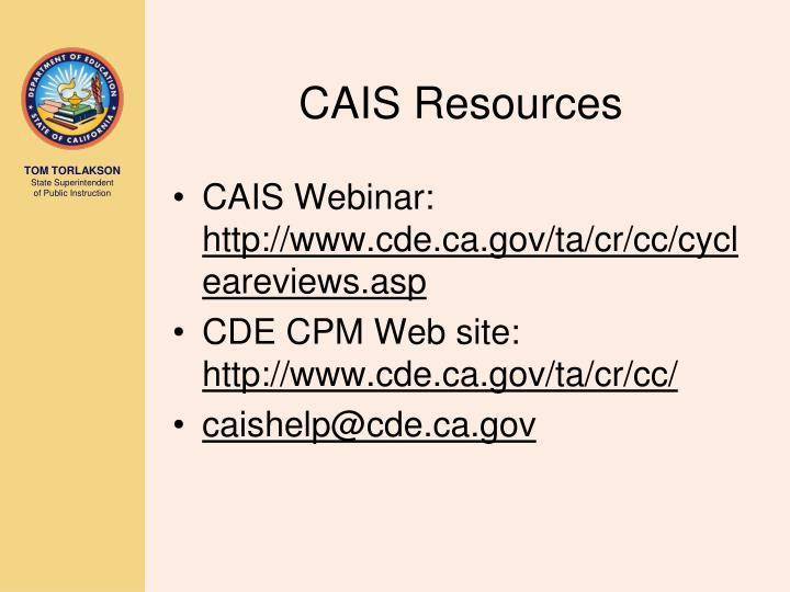 CAIS Resources