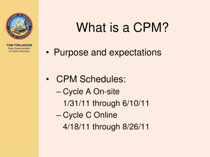 What is a cpm