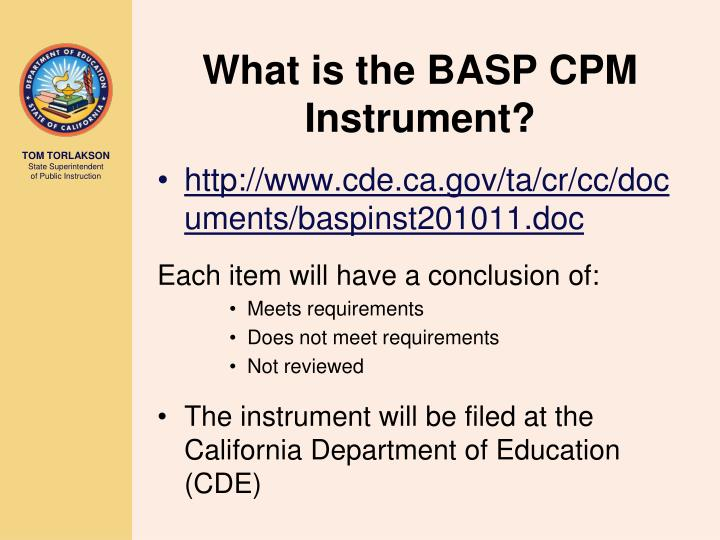 What is the BASP CPM Instrument?