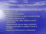 public water system requirements1