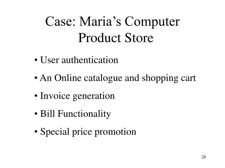 Case: Maria's Computer
