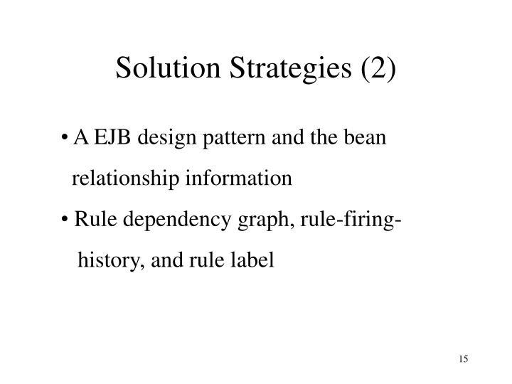 Solution Strategies (2)