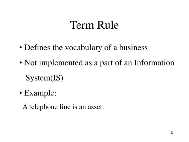 Term Rule