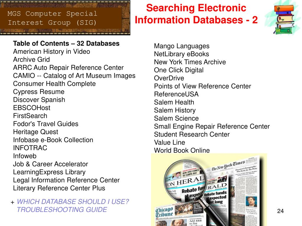 PPT - Using The Manatee County Public Library System