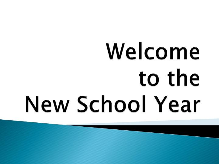 welcome to the new school year n.