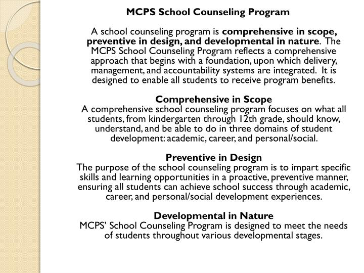 MCPS School Counseling Program