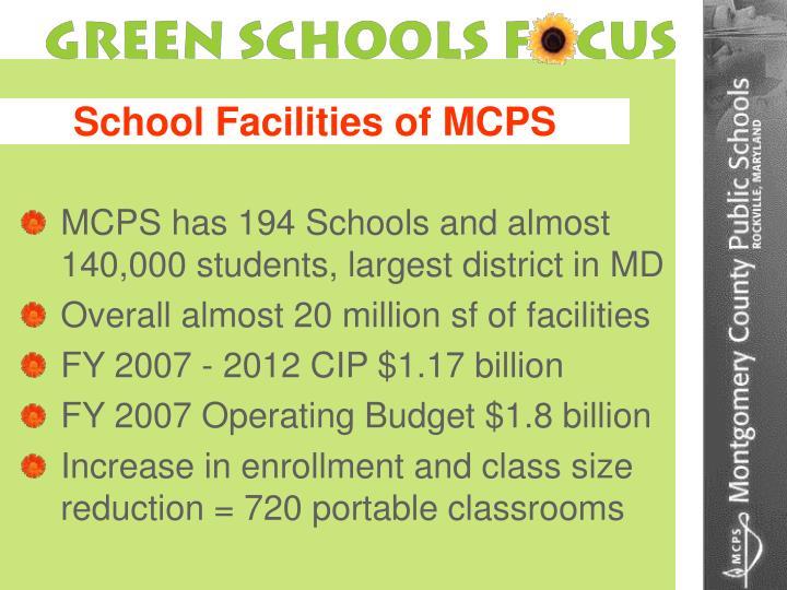 School facilities of mcps