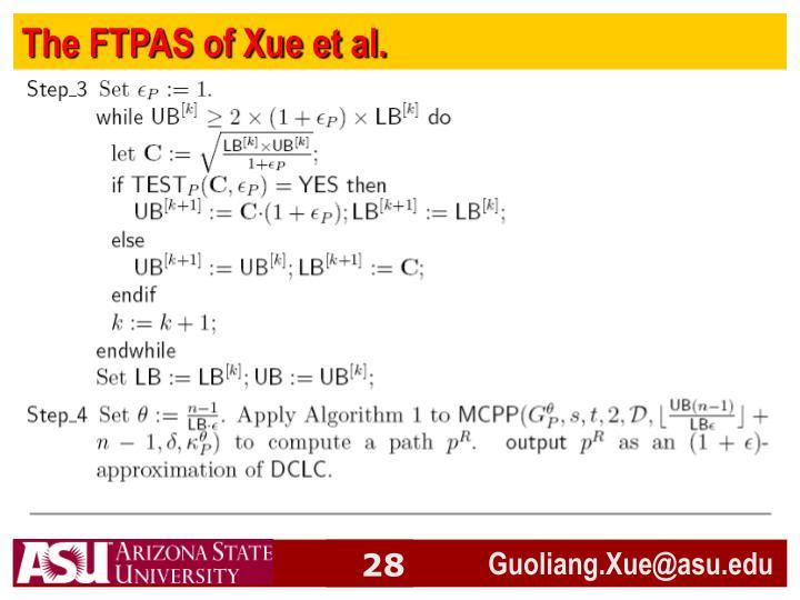 The FTPAS of Xue et al.