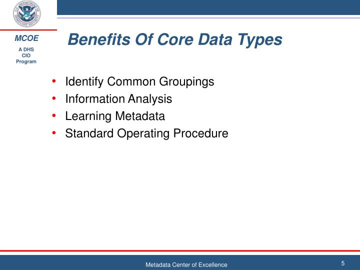 Benefits Of Core Data Types