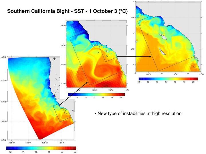 Southern California Bight - SST - 1 October 3 (