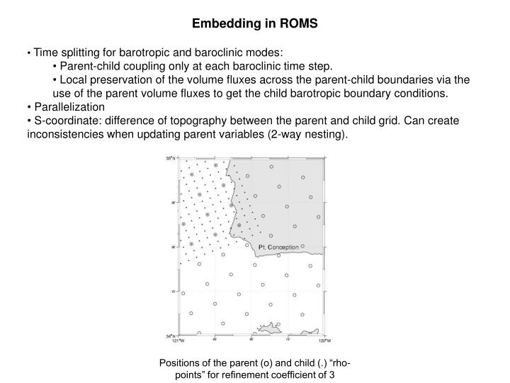 Embedding in ROMS