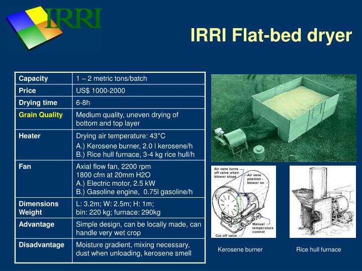 Irri flat bed dryer