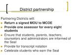 district partnership
