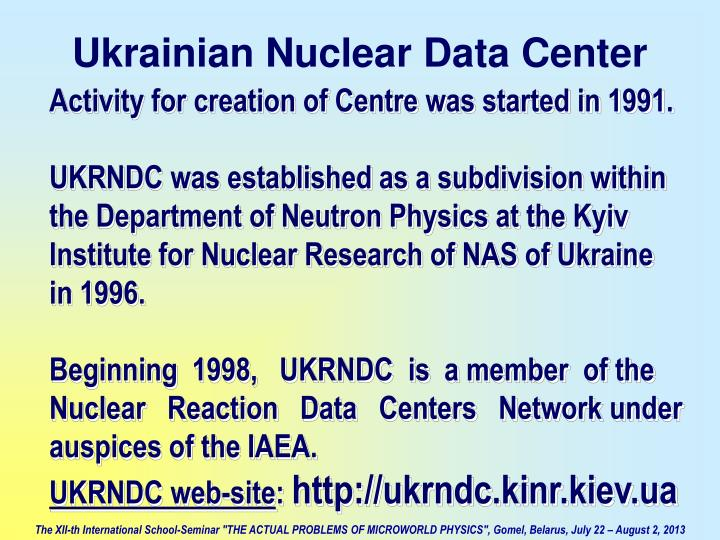 Activity for creation of Centre was started in 1991.