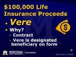 100 000 life insurance proceeds