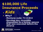 100 000 life insurance proceeds1