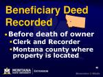 beneficiary deed recorded