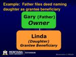 example father files deed naming daughter as grantee beneficiary