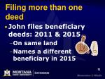 filing more than one deed