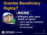 grantee beneficiary rights