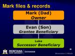 mark files records