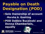 payable on death designation pod2