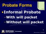 probate forms
