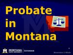 probate in montana